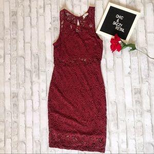 Blue S Lace Dress